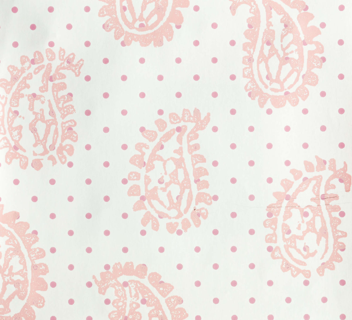 Firenze Pink with Dots Wallpaper