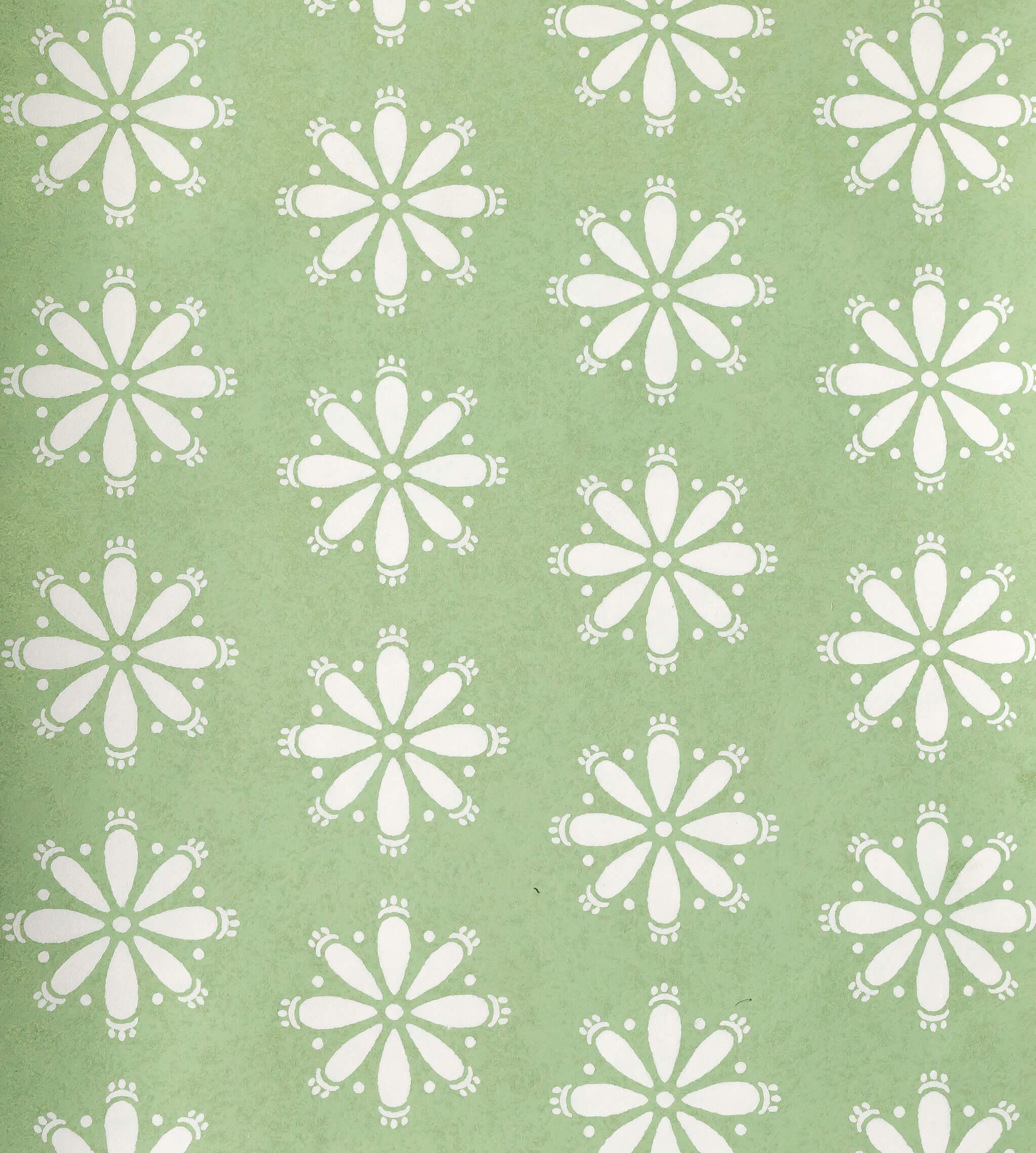 Libby Spring Green Reverse Wallpaper